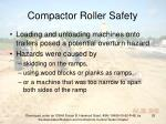 compactor roller safety