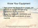 know your equipment55