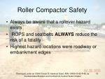 roller compactor safety