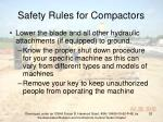 safety rules for compactors52