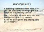 working safely89