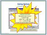 using solver35