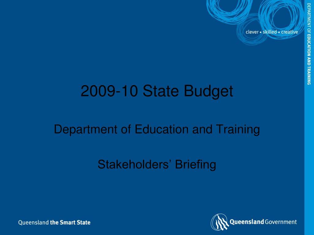 2009 10 state budget l.