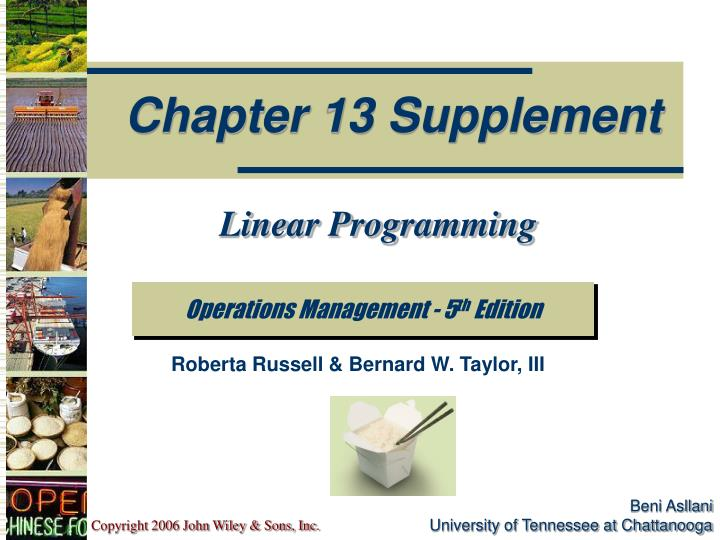 linear programming chapter