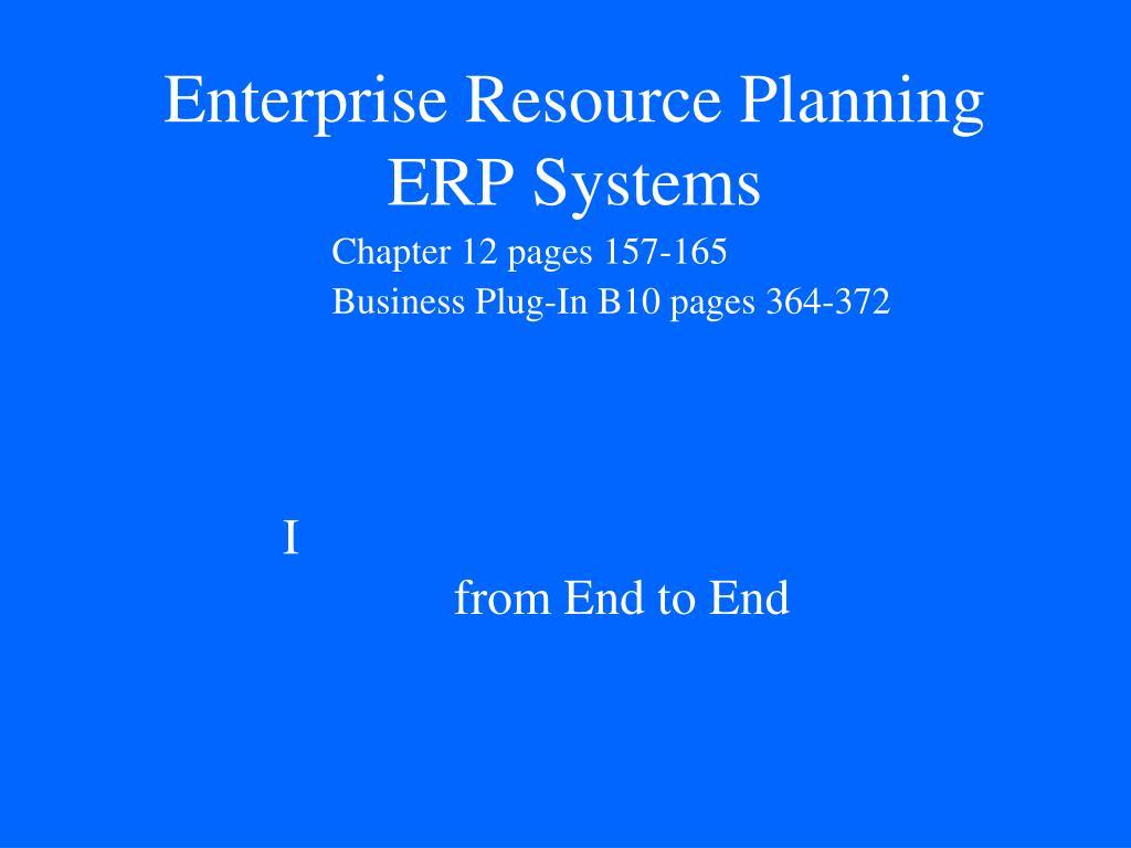 enterprise resource planning erp systems l.
