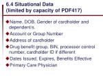 6 4 situational data limited by capacity of pdf417
