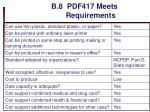 b 8 pdf417 meets requirements