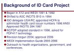 background of id card project