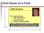 card issuer on a card