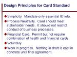 design principles for card standard