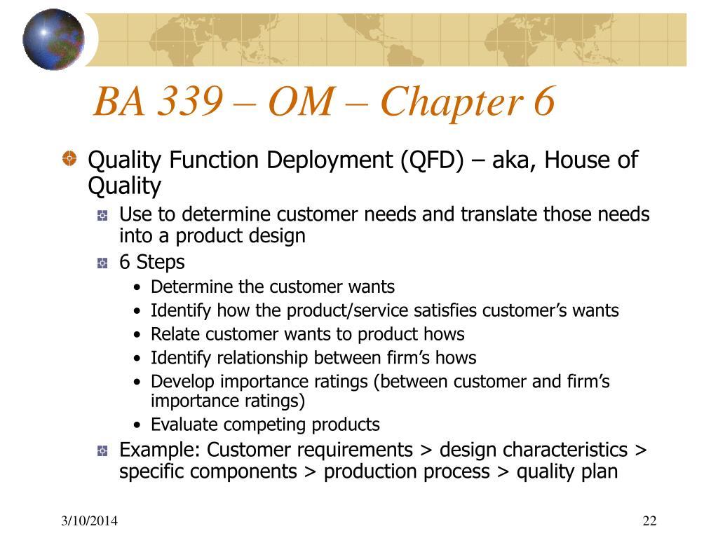 BA 339 – OM – Chapter 6