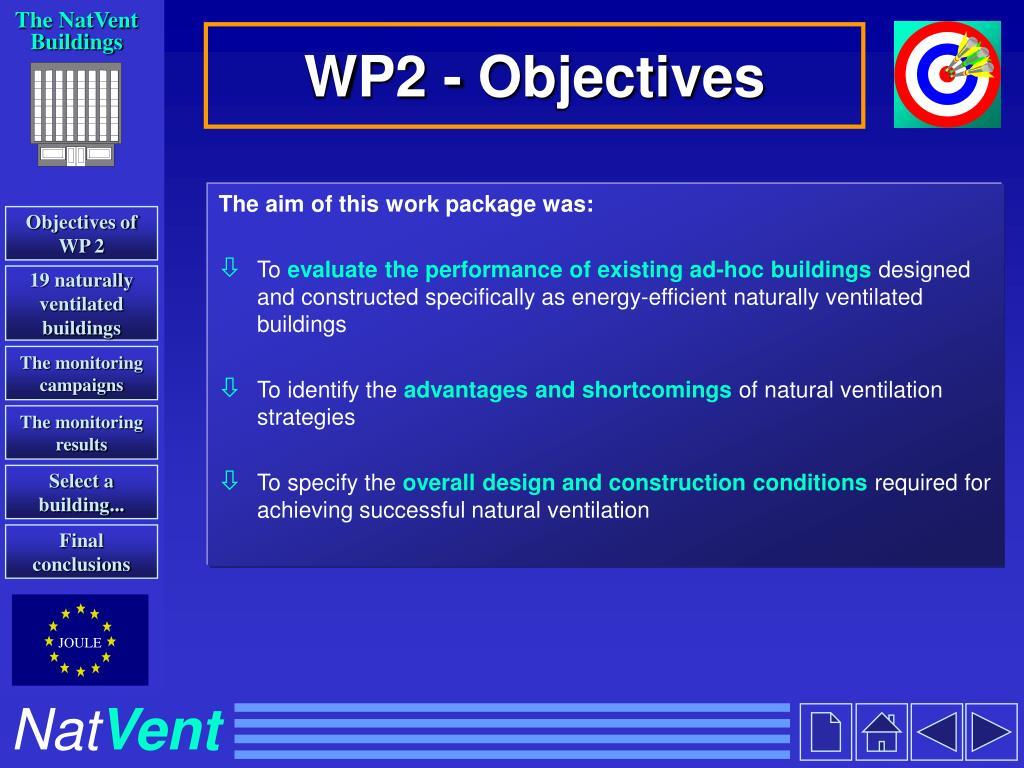 WP2 - Objectives