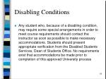 disabling conditions