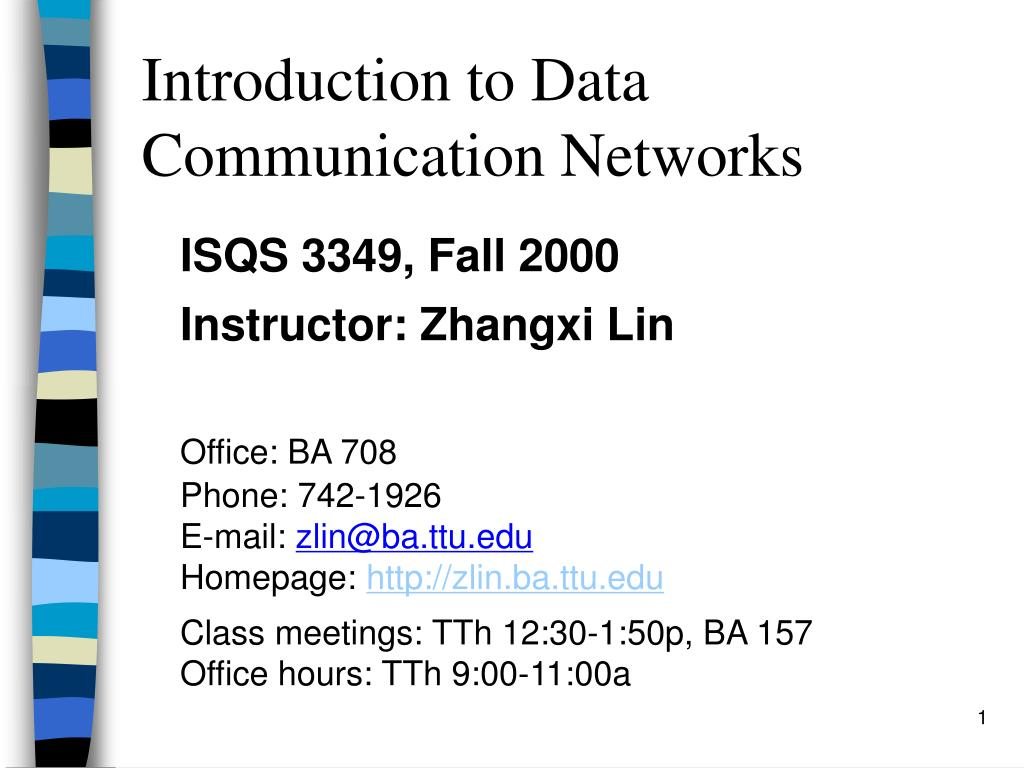 introduction to data communication networks l.