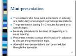 mini presentation