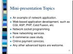 mini presentation topics