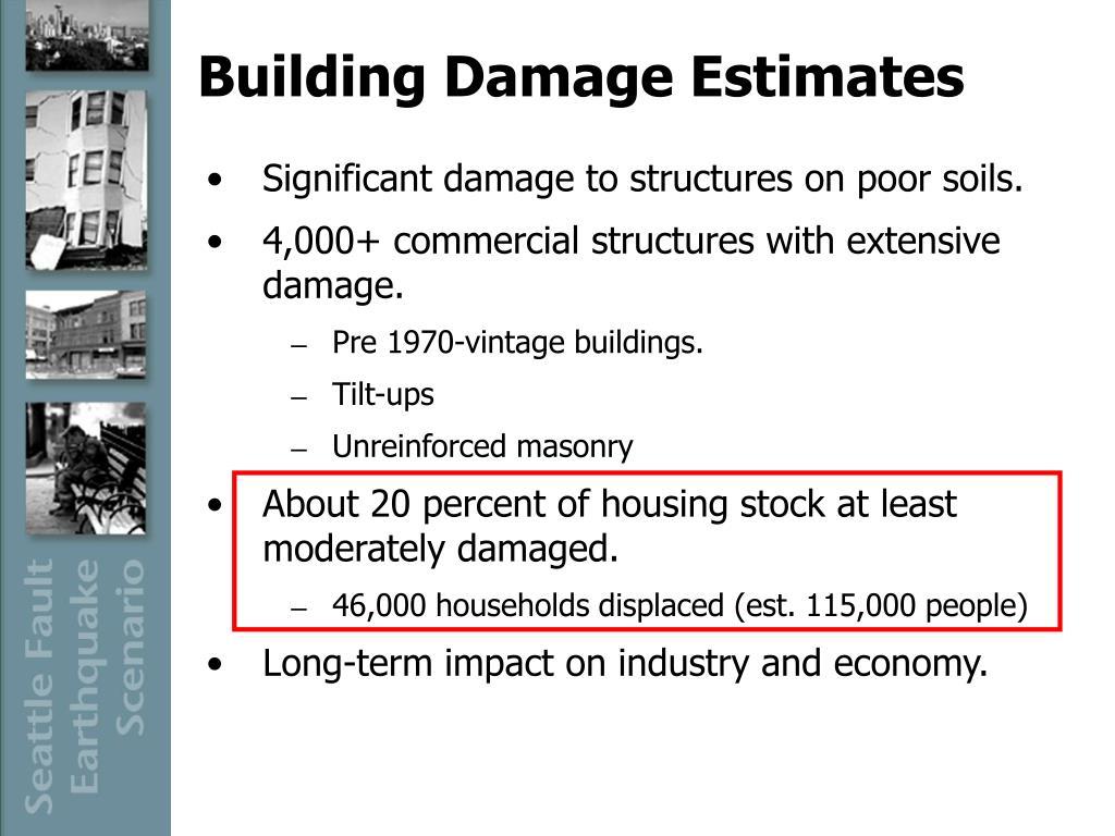 Building Damage Estimates