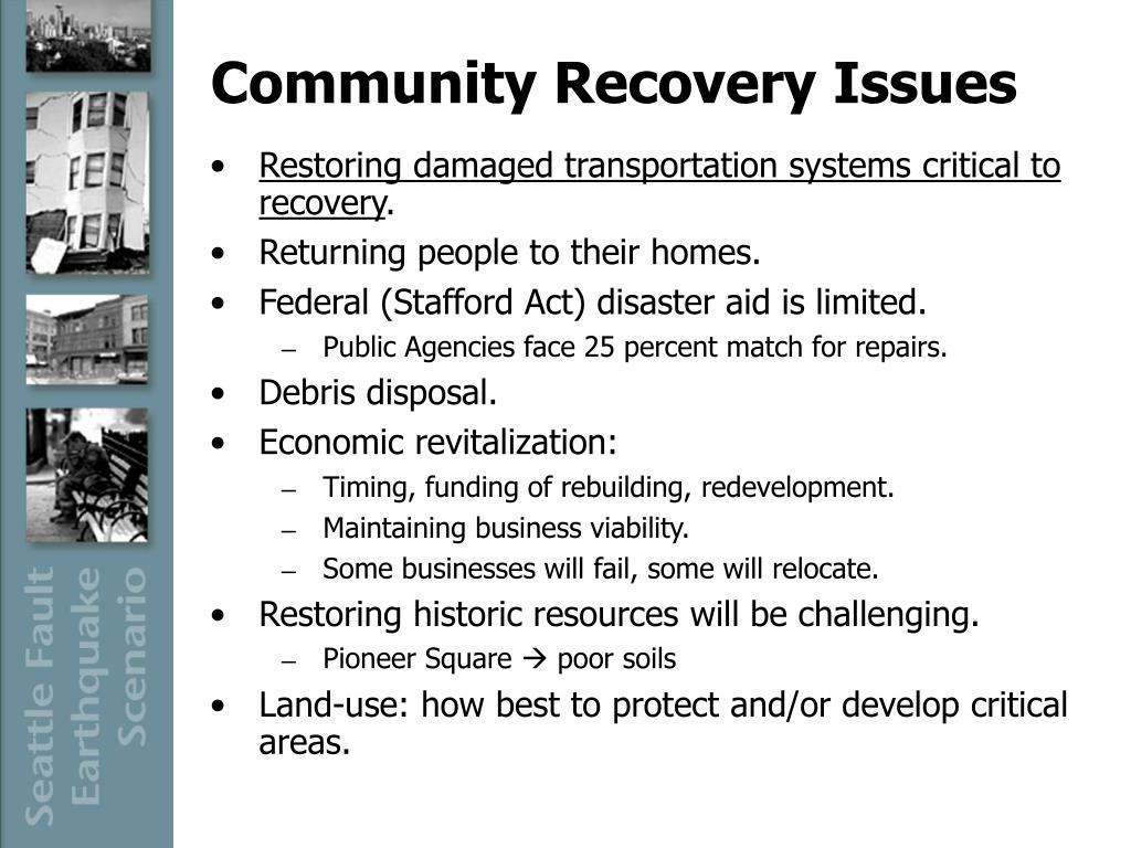 Community Recovery Issues
