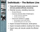 individuals the bottom line