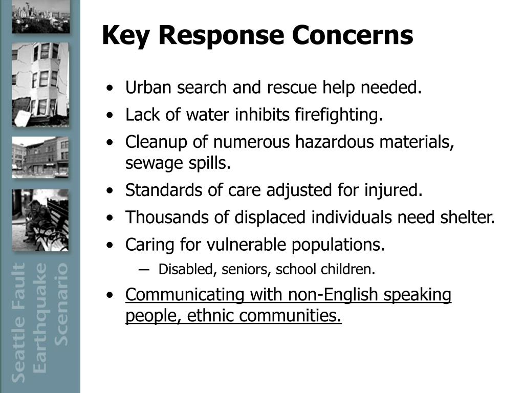 Key Response Concerns