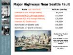 major highways near seattle fault