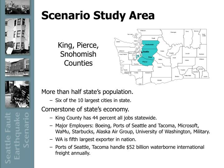 Scenario study area