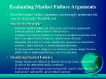 evaluating market failure arguments