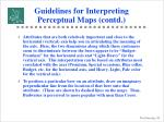 guidelines for interpreting perceptual maps contd