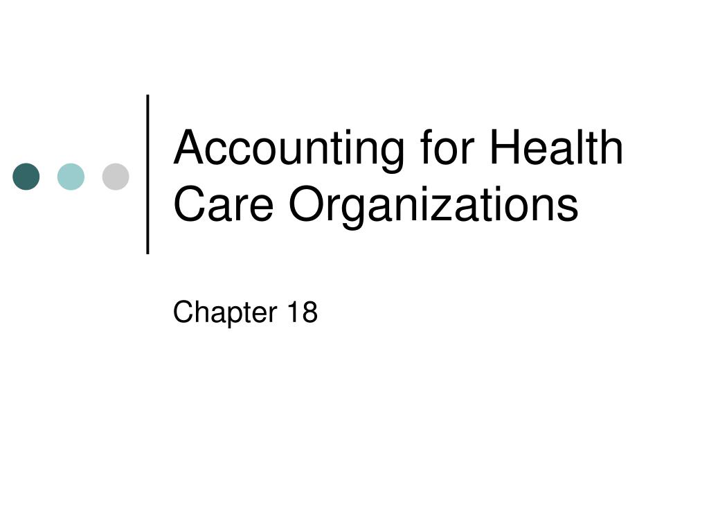 accounting for health care organizations l.