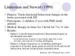 linderman and stewart 1999