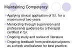 maintaining competency