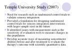 temple university study 200778