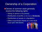 ownership of a corporation