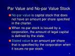 par value and no par value stock14
