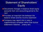 statement of shareholders equity