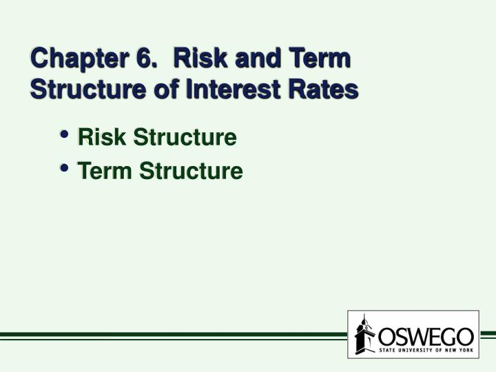 chapter 6 risk and term structure of interest rates n.