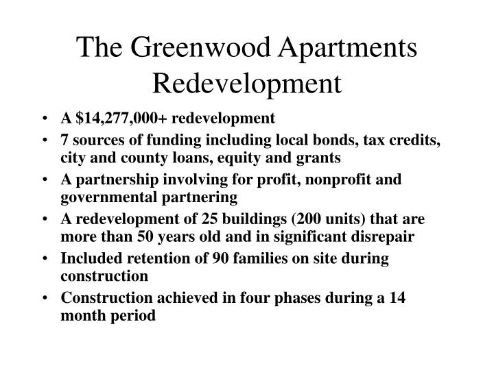 The Greenwood Apartments Redevelopment