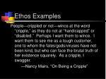 ethos examples