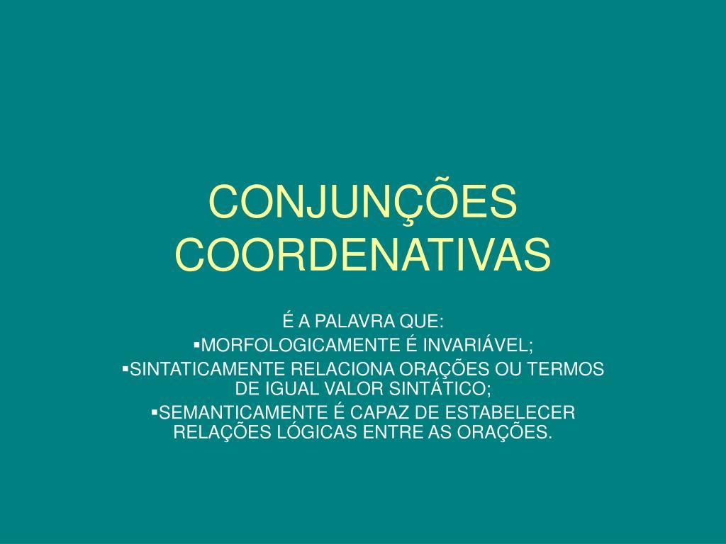conjun es coordenativas l.
