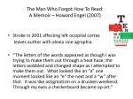the man who forgot how to read a memoir howard engel 2007