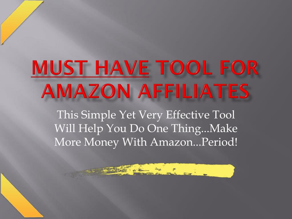 must have tool for amazon affiliates l.