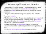 literature significance and reception