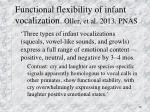 functional flexibility of infant vocalization oller et al 2013 pnas
