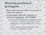 measuring grammatical development