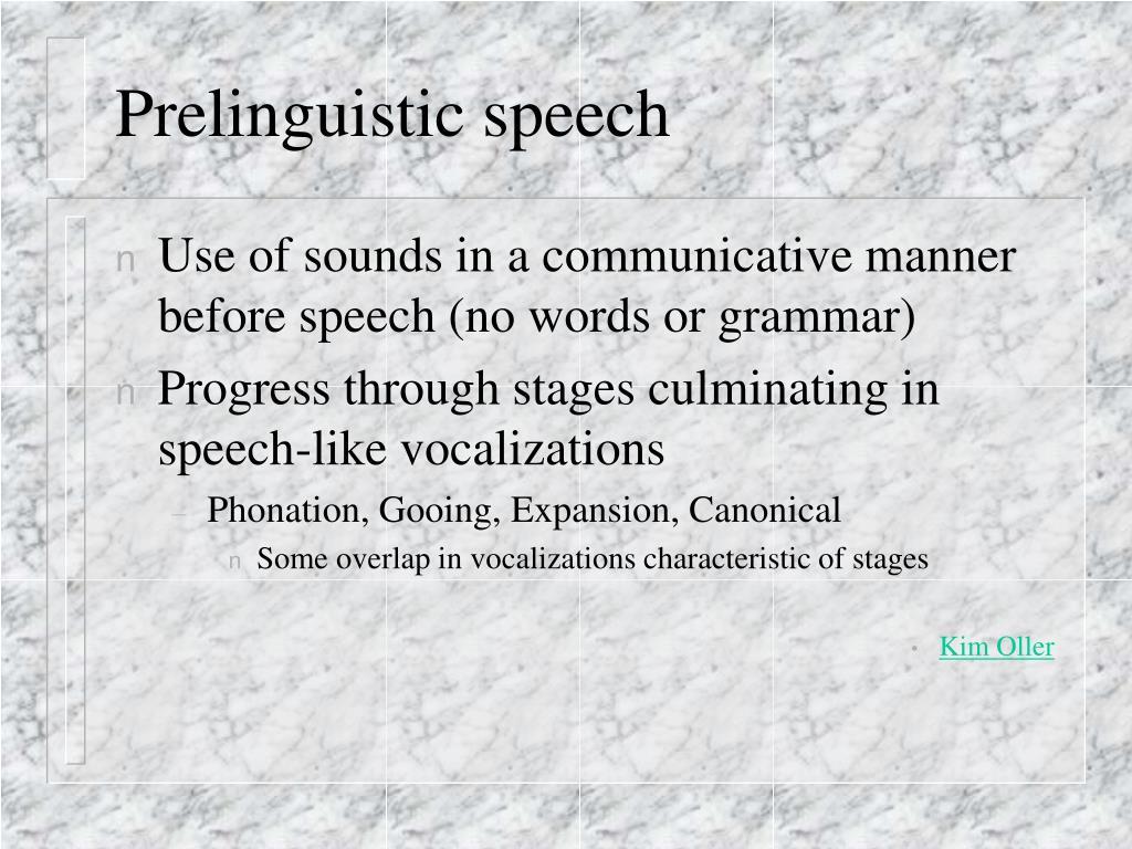 prelinguistic language