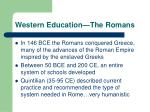 western education the romans