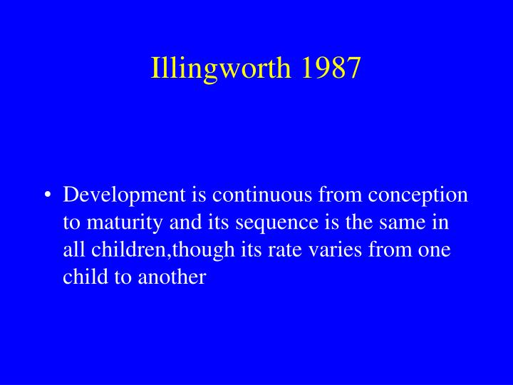 Illingworth 1987