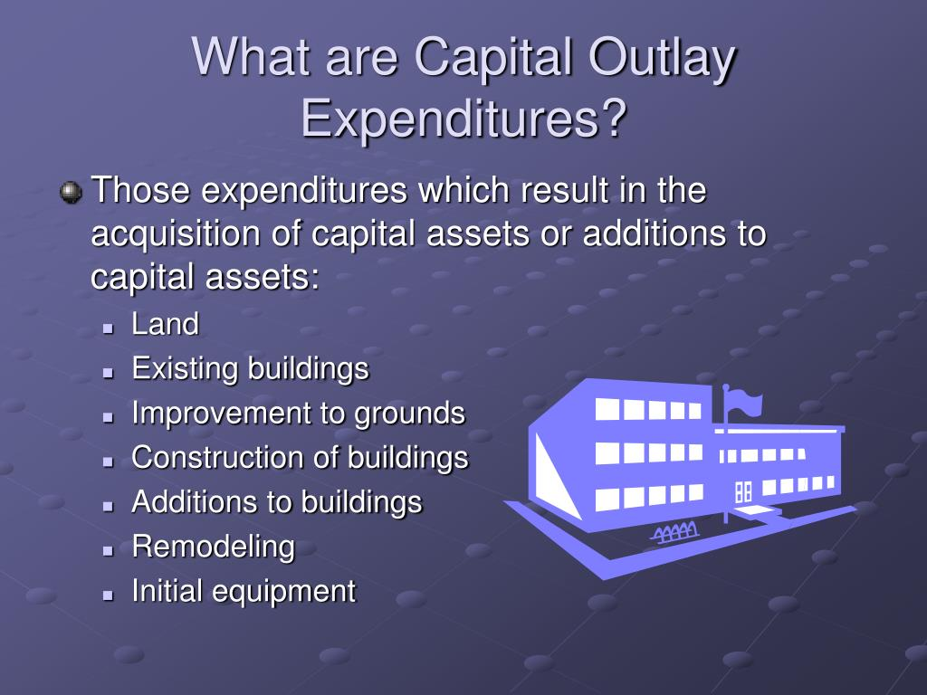 What are Capital Outlay Expenditures?