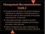 management recommendations grade 3