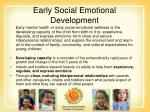 early social emotional development30